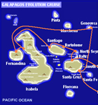 Galapagos cruises, Legend cruise itinerary